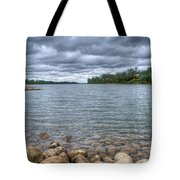 Clouds Over The American River Tote Bag