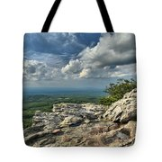 Clouds Over The Cliff Tote Bag