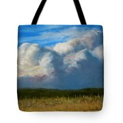 Clouds Over The Meadow Tote Bag by Jack Skinner