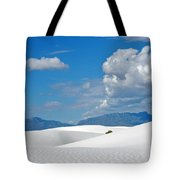 Clouds Over The White Sands Tote Bag