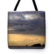 Clouds Over Tillamook Lighthouse Tote Bag