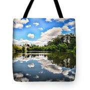 Clouds Reflection On Water Tote Bag