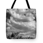 Clouds Rising Bw Palm Springs Tote Bag