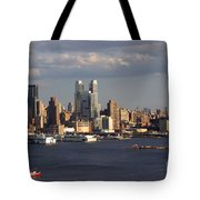 Clouds Rolling In On New York City Tote Bag