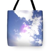 Clouds With Orb Tote Bag