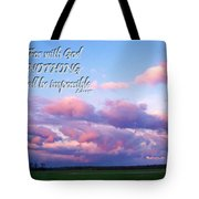 Clouds With Verse I Tote Bag