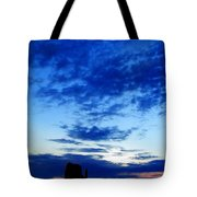 Cloudy Blue Monument Tote Bag