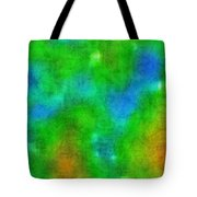 Cloudy Green And Blue Tote Bag
