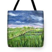 Cloudy Marsh Tote Bag