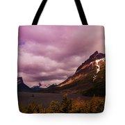 Cloudy Morning At Glacier Tote Bag