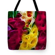 Cluster Of Gladiolas Triptych Panel 2 Tote Bag