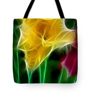 Cluster Of Gladiolas Triptych Panel 3 Tote Bag
