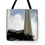 Cn Tower And Train Tote Bag