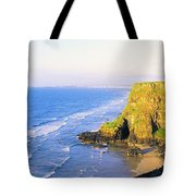 Co Derry, Ireland View Of Cliffs And Tote Bag