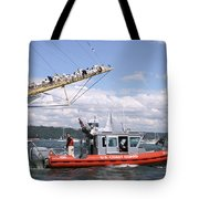 Coast Guard With Tall Ships Tote Bag