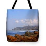Coast Line California Tote Bag by Susanne Van Hulst