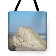 Coastal Art Prints Driftwood Ocean Beach Sky Tote Bag by Baslee Troutman