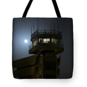 Cob Speicher Control Tower Under A Full Tote Bag by Terry Moore