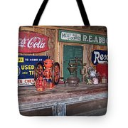 Coca Cola - Rexall - Ok Used Tires Signs And Other Antiques Tote Bag