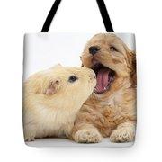 Cockerpoo Puppy And Guinea Pig Tote Bag