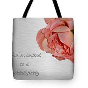 Cocktail Party Invitation - Fabric Rose Tote Bag