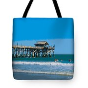 Cocoa Beach Pier Florida Tote Bag