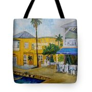 Coconut Tree In The Middle Tote Bag