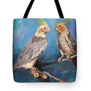 Coctaiel Parrots Tote Bag