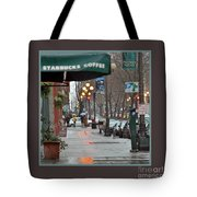 Coffee And Rain In Seattle Tote Bag