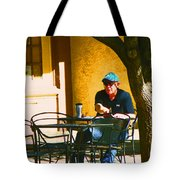 Coffee At The Outdoor Cafe Tote Bag