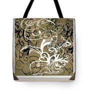 Coffee Flowers 1 Olive Scrapbook Tote Bag