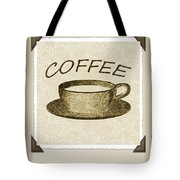 Coffee Flowers 1 Olive Scrapbook Triptych Tote Bag