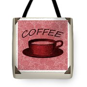 Coffee Flowers Scrapbook Triptych 2 Tote Bag