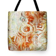 Coffee Rings Abstract Tote Bag