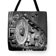 Cog And Chain In Rust Black And White Tote Bag