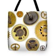 Cogwheels - Gears Tote Bag by Michal Boubin