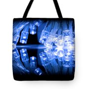 Cold Blue Led Lights Closeup Tote Bag