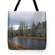 Cold Day On The Nemah River Tote Bag