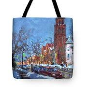 Cold Morning In Elmwood Ave  Tote Bag