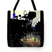 Cold Morning Tractor  Tote Bag