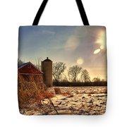 Cold Winter Barn Tote Bag