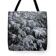 Cold Winter Snow Tote Bag