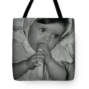 Colette 1 Year Old With 3 Eye Opend Tote Bag