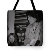 Colette With Mamma Chris In Their Ice Kiosk In Denmark At The Time  Tote Bag