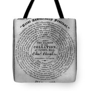 Collation Ticket, 1824 Tote Bag