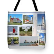 Collection Of Lighthouses Tote Bag