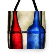 Collector - Bottles - Two Empty Wine Bottles  Tote Bag