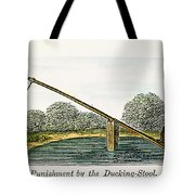Colonial Ducking Stool Tote Bag