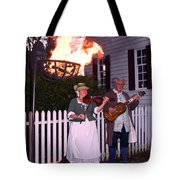 Colonial Musicians By Firelight Tote Bag