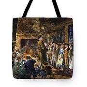 Colonial Schoolhouse Tote Bag